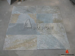 Yellow Vein Grey Slate Tile for Roof and Floor pictures & photos
