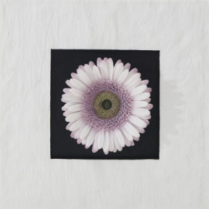 Resin Sandstone Purple Gerbera Flowers Wall-Mounted Decoration for Home Decoration or Hotel Decoration