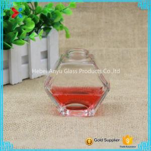 90ml 3oz Oblate Hexagon Glass Honey Jar Mason Jar with Cork pictures & photos