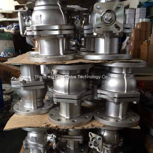 JIS 10k Stainless Steel Floating Full Bore Ball Valve Flange End pictures & photos