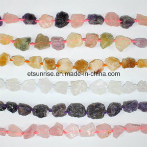 Fashion Gemstone Mix Color Crystal Beaded Rough Nugget Stone pictures & photos