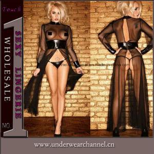 Wholesale Luxurious Lace Transparent Maxi Dress Sexy Lady Lingerie (TGP861) pictures & photos
