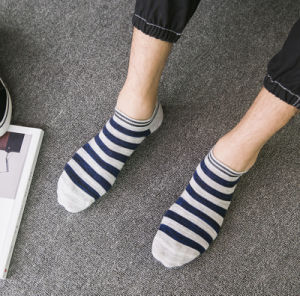 Spring Autumn Boat Striped Cotton Fashion Wholesale Men′s Socks pictures & photos