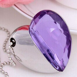 Beautiful Heart Shape for Crystal USB Flash Drive pictures & photos