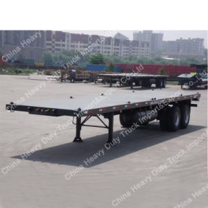 Manufacture Sale Light Dead Weight 20 Feet Container Flat Bed Semi Trailer pictures & photos