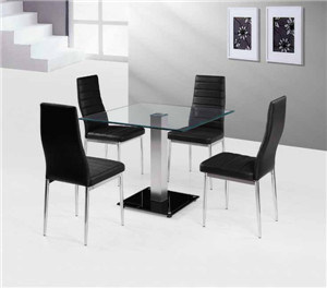 Tempered Glass Dining Set (DT014) pictures & photos