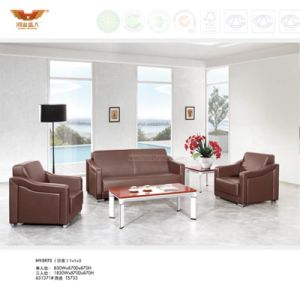 Modern Design Office Leather Sofa Covered with Metal Leg (HY-S973) pictures & photos