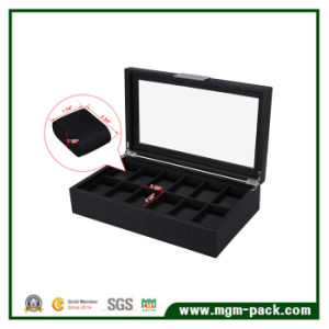 Eco-Friendly Large Display Wooden Watch Box with 12 Slots pictures & photos