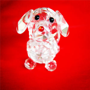 Small Cute Crystal Dog for Childrens′ Gift