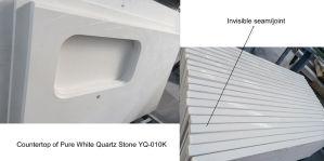 Artificial Stone White Quartz for Countertop Vanity Top pictures & photos