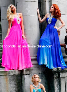Chiffon Halter Evening Dress (EV0083)