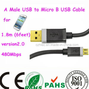 Mobile Phone a Male USB to Micro B USB Cable pictures & photos