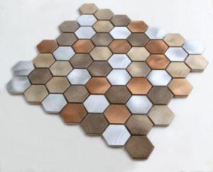 2017 Europe Hexagon Metal Mosaic pictures & photos