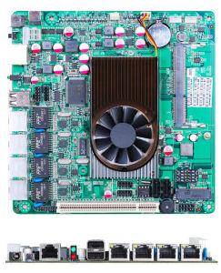 Mini-ITX Firewall Motherboard Onboard Intel Atom D525 with 4*LAN, 2COM