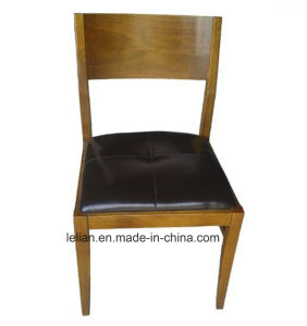 Wood Frame Leather Uphystery Restaurant Dining Chairs pictures & photos