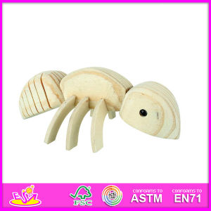 2014 New Animal Kids Paint Wood Toy, Popular DIY Children Paint Wood Toy, Hot Sale Ant Style Baby Paint Wood Toy W03A038 pictures & photos