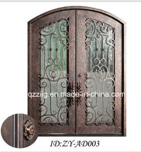 Eyebrow Top Interior Iron Door (ZY-IR088)
