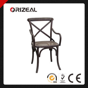 French Bistro Style Timber Cross Back Dining Chair (OZ-SW-032) pictures & photos