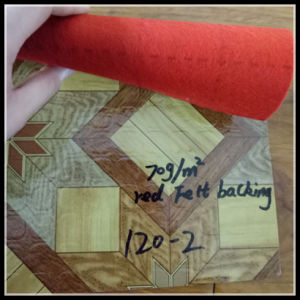 Best Seller Red Felt Backing PVC Vinyl Roll Flooring pictures & photos