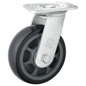 Heavy Duty PU Caster (Black) (Round Surface) (G4204) pictures & photos