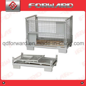 Steel Collapsible Wire Mesh Cage/Storage Container for Pallet Rack pictures & photos
