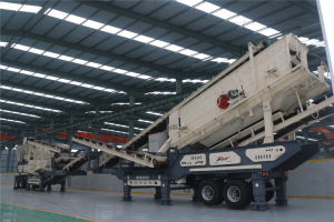 Construction Waste Mobile Jaw Crusher Station pictures & photos