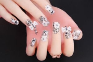 Cosmetics for Nail Beauty Decoration Nail Art with Crystal and Flowers pictures & photos