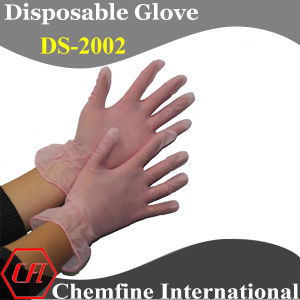 CE/ ISO Approved Pink Powdered Synthetic Disposable Glove with Rolled Cuff/ En420; En455 pictures & photos