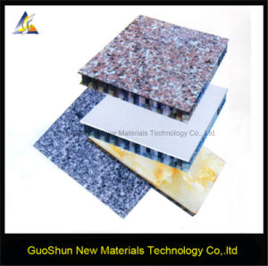 Decorative Marble and Rock Color Facade Cladding Aluminum Honeycomb Panel pictures & photos