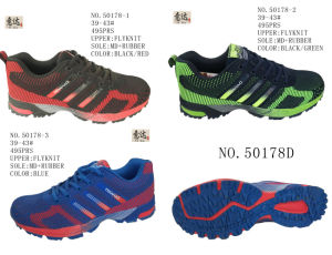 No. 50178 Three Colors Flyknit Men′s Sport Stock Shoes pictures & photos