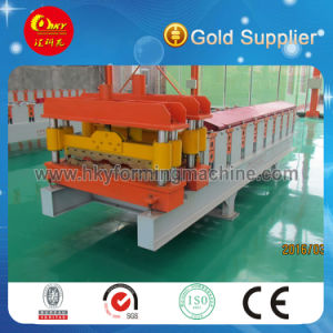 Hky PLC Automatic Colored Steel Glazed Roofing Tile Roll Forming Machine pictures & photos