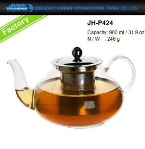 400-1200ml Customized Handled Glass Tea Maker Container pictures & photos