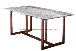 Italian Design Home Furniture Nature Marble Wood Dinner Table pictures & photos