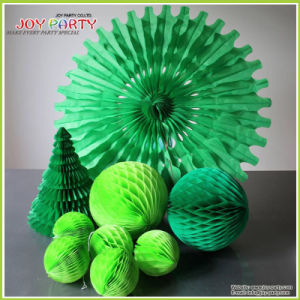 Tissue Paper Honeycombs for Christmas Decoration