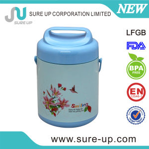 Practical Plastic Outer Glass Liner Lunch Box Food Storage Container (CSUR012) pictures & photos