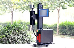 20W/ 30W /50W Fiber Laser Marking Machine for PP/PVC/PE/HDPE Plastic Pipe pictures & photos