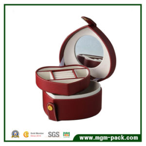 Wholesale Fashion Leather Jewelry Storage Box with Mirror pictures & photos