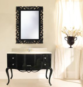 Glossy Black New Classical Cabinet