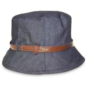 Ladies Fashion Design Denim Bucket Floppy Hat with Belt pictures & photos