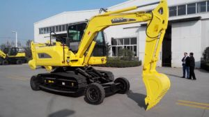 8t Crawler Excavator with Wheels pictures & photos