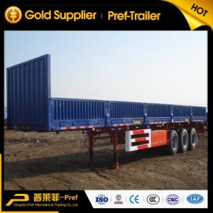 3 Axle Step-Wise Type Side Panel Truck Trailer for Sale
