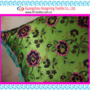 Flower Embroidered Cushion for Sofa (2E0307D-BZ (4))