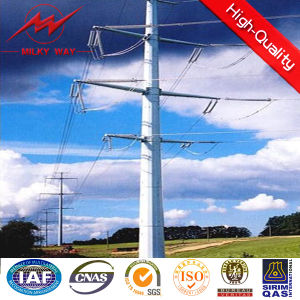 HDG Electric Power Transmission Line Steel Pole pictures & photos