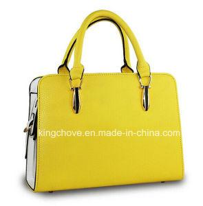 Fashion Yellow Lichi PU Newest Designer Ladies Handbags (KCH120-2) pictures & photos