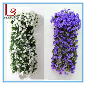 Wholesale Wedding Home Decoration Rattan Bracketplant Violet Hanging Fake Flower Girl Birthday Gift Simulation Flower Decorative Artificial Flower pictures & photos