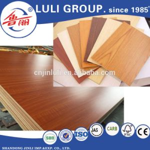 Hot Sale Wood Color Laminated MDF From Luli Group pictures & photos