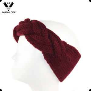 Soft Acrylic Hand Made Cable Pattern Headband pictures & photos