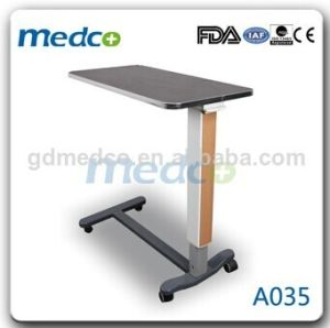 Height Adjustable Over Bed Table for Hospital A035 pictures & photos