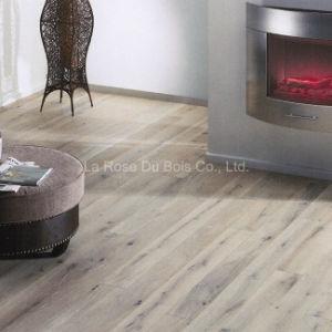 Hand Scraped White Oil Oak Wood Flooring/Engineered Hardwood Floors