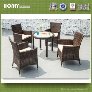 Modern Garden Patio Furniture Outdoor Rattan Dining Table Set